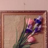 фото: Картины и панно (Ирисы с тюльпанами)