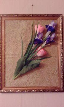 Ирисы с тюльпанами ручной работы на заказ
