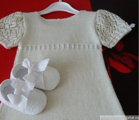 """Платье для малышки """"White dance I """" ручной работы на заказ"""
