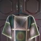 Платье-туника шерстяное большого размера
