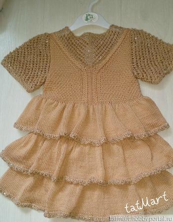 """Платье для девочки """"PARTY"""" ручной работы на заказ"""