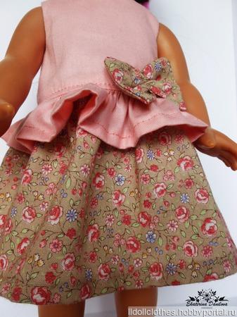 Платье для куклы Gotz ручной работы на заказ