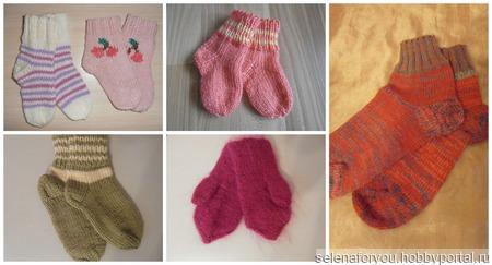 Варежки,пинетки, носочки ручной работы на заказ