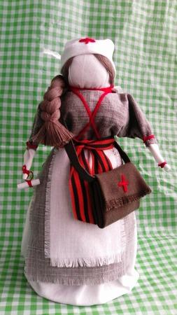Кукла Фронтовая сестра ручной работы на заказ