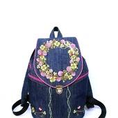 Рюкзак джинсовый женский Клевер