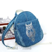 Рюкзак джинсовый женский Owl_2