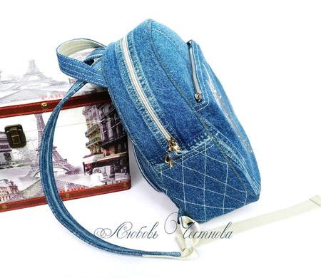 Рюкзак джинсовый женский Owl_2 ручной работы на заказ