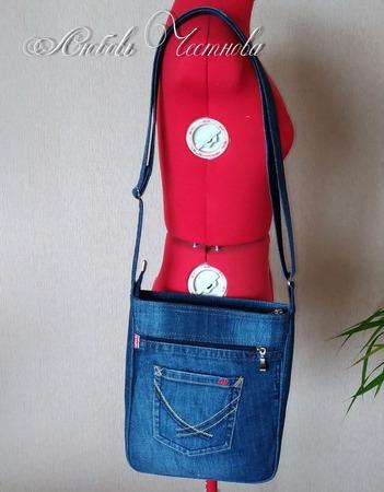 Сумка джинсовая мужская Casual_2 ручной работы на заказ