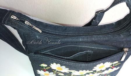 Сумка джинсовая женская Летняя рапсодия ручной работы на заказ