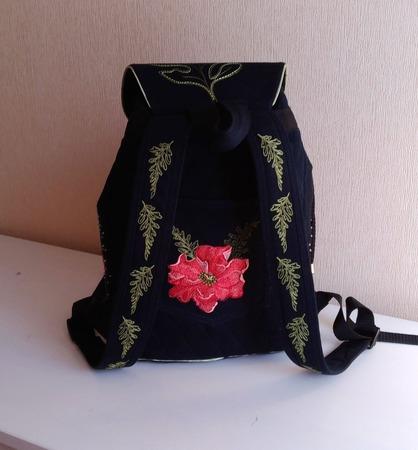 Рюкзак джинсовый женский Винтажный этюд ручной работы на заказ