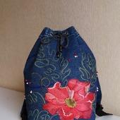 Рюкзак джинсовый женский Винтаж
