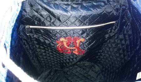 Рюкзак джинсовый женский Краски осени_2 ручной работы на заказ