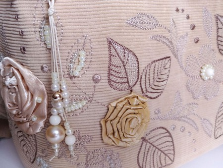 Рюкзак женский текстильный Вальс осени ручной работы на заказ