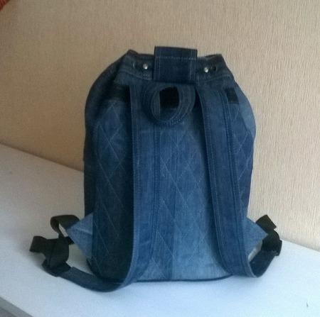 Рюкзак джинсовый Летняя рапсодия ручной работы на заказ