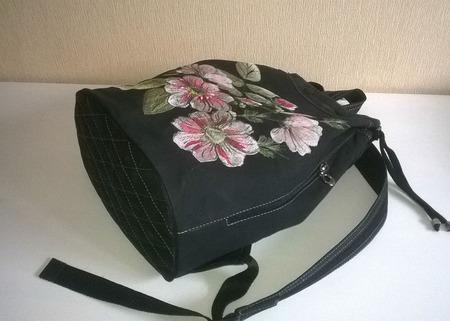 Рюкзак джинсовый женский Летний аромат ручной работы на заказ