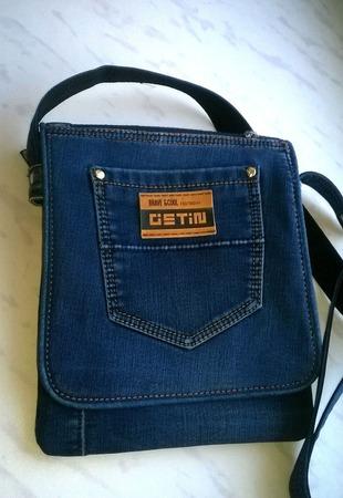 Сумка джинсовая мужская Casual ручной работы на заказ
