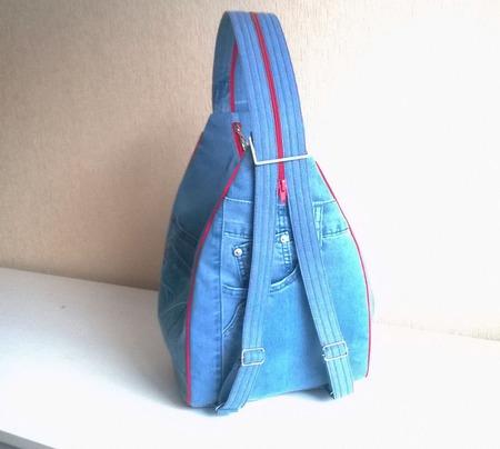 Рюкзак джинсовый женский Йорк ручной работы на заказ