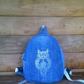 Рюкзак джинсовый женский Owl