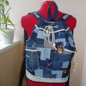 Рюкзак джинсовый Деревенские напевы
