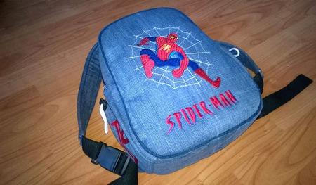 Рюкзак джинсовый детский Spiderman ручной работы на заказ