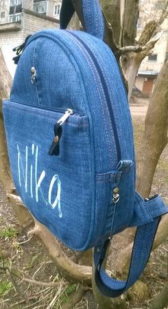 Рюкзак джинсовый Nika ручной работы на заказ