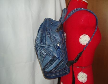 """Рюкзак- торба """" Crazy denim"""" ручной работы на заказ"""