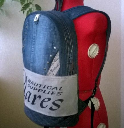 Рюкзак джинсовый мужской Минимализм ручной работы на заказ