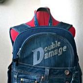 """Рюкзак мужской джинсовый """"Double Damage"""""""