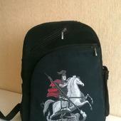 Рюкзак джинсовый мужской Святой Георгий