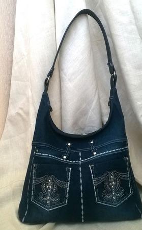 Сумка джинсовая Эммануэль ручной работы на заказ