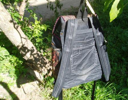 """Рюкзак джинсовый """"Школьная пора"""" ручной работы на заказ"""