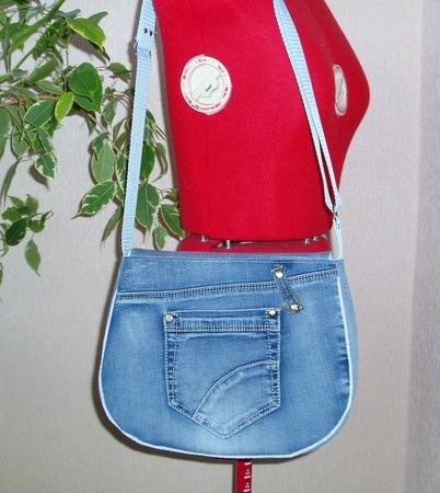 Сумка джинсовая Сова ручной работы на заказ