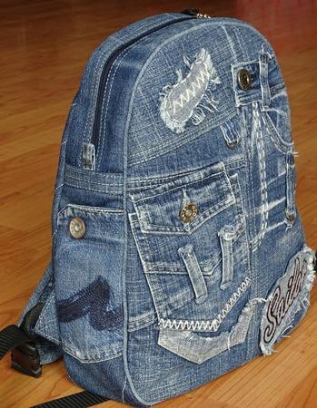 """Рюкзак джинсовый """"Denim style"""" ручной работы на заказ"""