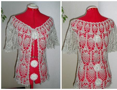 Болеро женское льняное Льняная сказка ручной работы на заказ