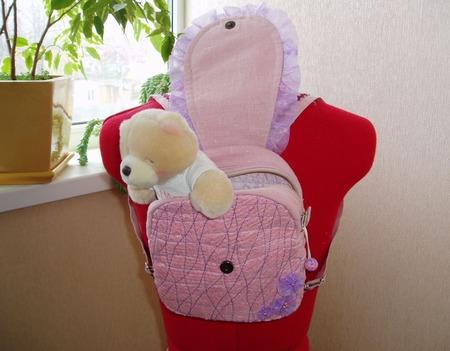 """Рюкзачок детский """"Совушка- кокетка"""" ручной работы на заказ"""