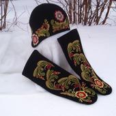 Шапка зимняя женская Славянские мотивы
