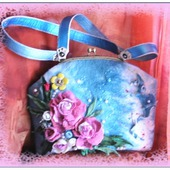 фото: Женские сумки — сумки и аксессуары (декупаж)