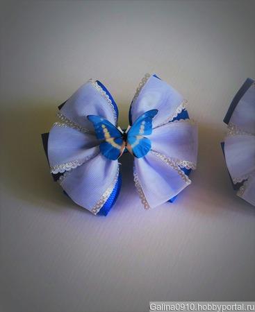 Бантики с бабочками ручной работы на заказ