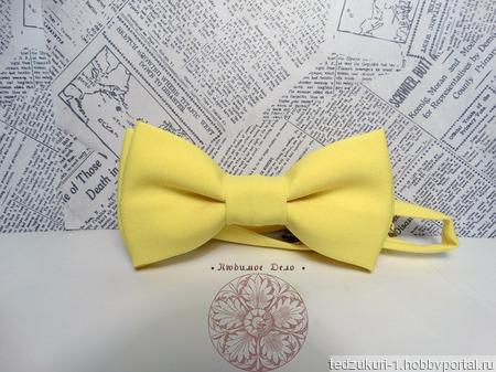 """Галстук-бабочка """"Лимонная"""" ручной работы на заказ"""
