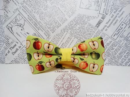 """Галстук бабочка """"Яблоки"""" ручной работы на заказ"""