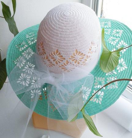 Шляпа с полями. ручной работы на заказ