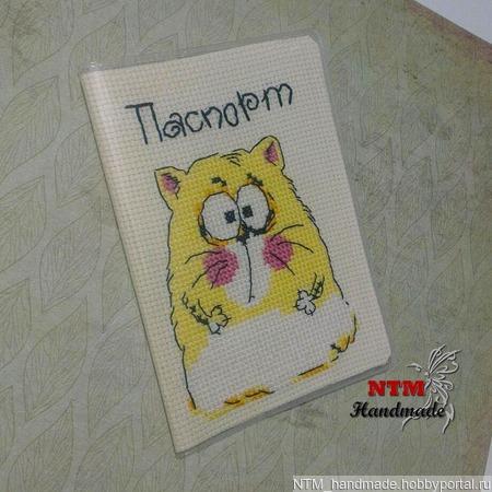 "Обложка на паспорт ""Йошкин кот"" ручной работы на заказ"