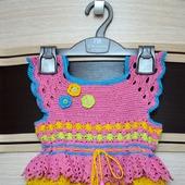 Красивое летнее платье для маленькой принцессы