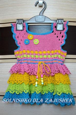 Красивое летнее платье для маленькой принцессы ручной работы на заказ