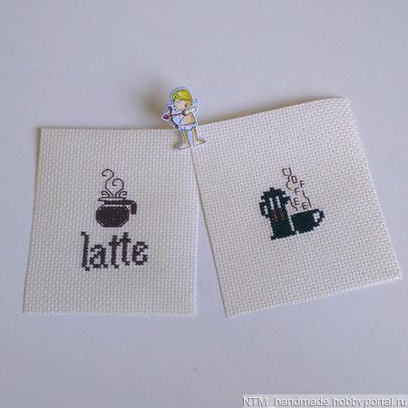 Заготовки. вышивка Кофе ручной работы на заказ