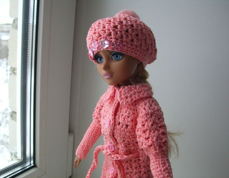 Верхняя одежда ажур для куколки мокси тинз ручной работы на заказ
