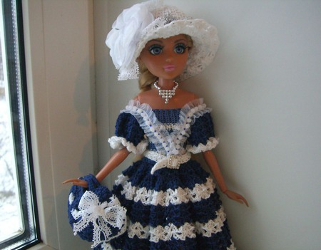 """Комплект одежды """"Морячка"""" для куколки мокси тинз ручной работы на заказ"""