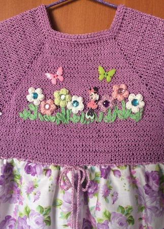 Летнее платье для девочки №4 ручной работы на заказ