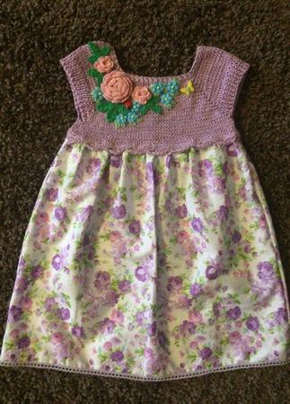 Летнее платье для девочки №3 ручной работы на заказ