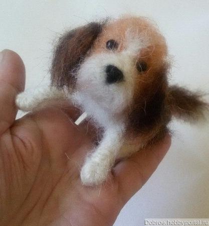 Маленькая собачка(символ 2018 года) ручной работы на заказ